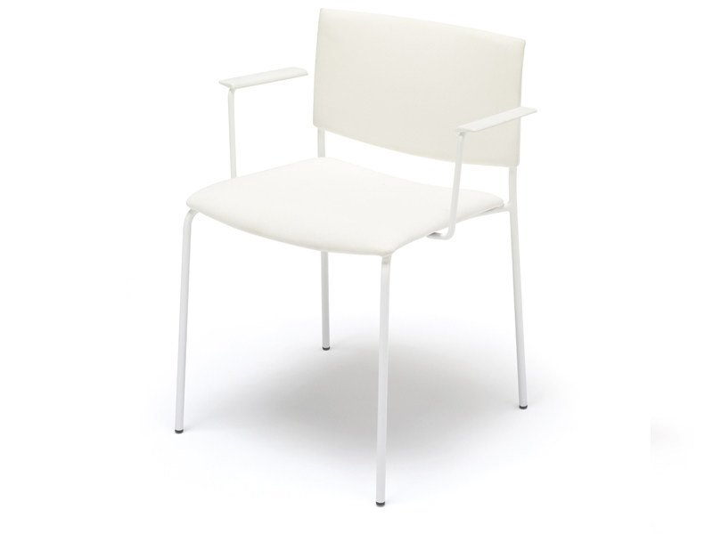 Stackable chair with armrests SIT | Chair with armrests - Andreu World