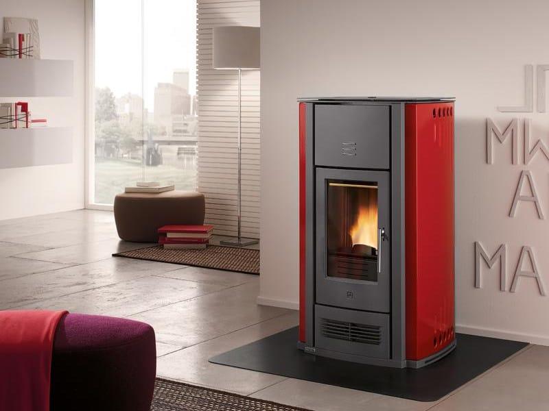 Pellet stove for air heating P956   Pellet stove - Piazzetta