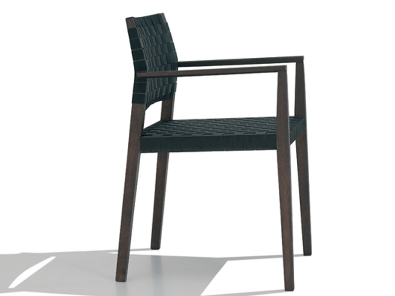 Wooden chair with armrests VALERIA | Chair with armrests - Andreu World