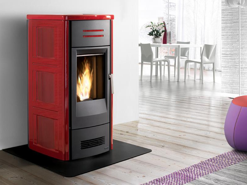 Pellet stove for air heating P963 | Pellet stove by Piazzetta
