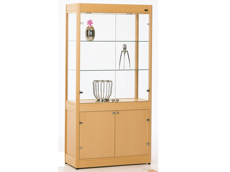 Beech display cabinet OPERA | Display cabinet by Abstracta