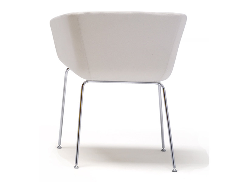 Upholstered chair with armrests NANDA CONFORT | Upholstered chair - Andreu World