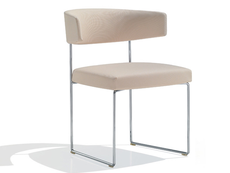 Sled base upholstered chair TAURO | Chair - Andreu World