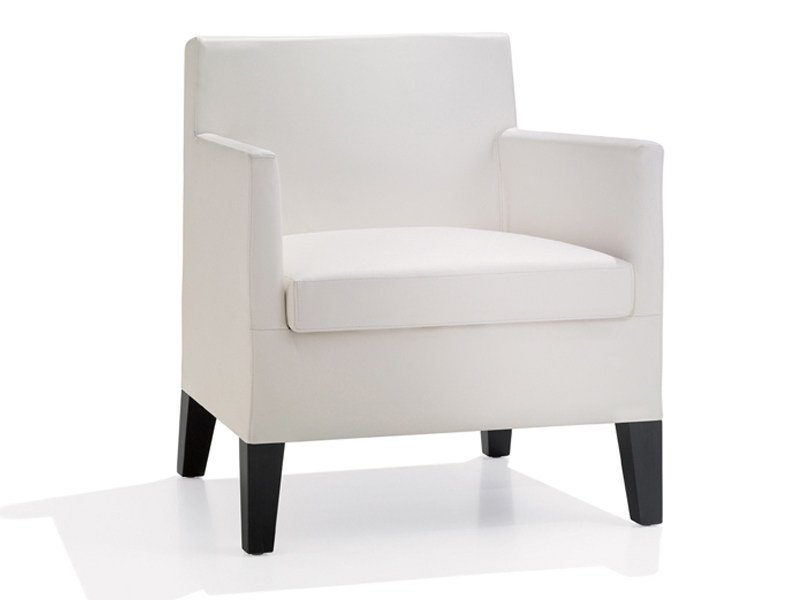 Upholstered armchair with armrests ANNA LOUNGE - Andreu World