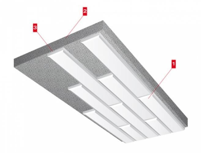 Fireproof rock wool ceiling tiles PAROC CP 60/120 | Ceiling tiles - LINK industries