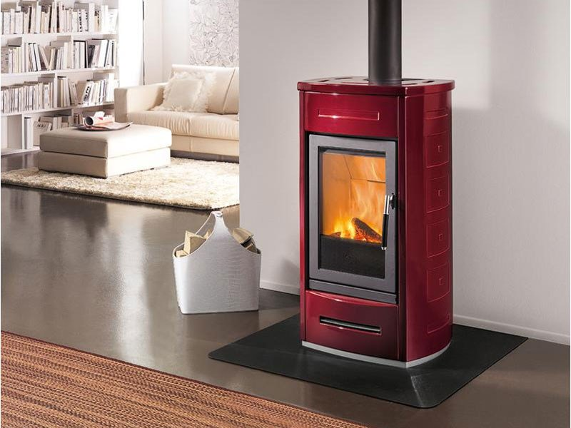 Wood-burning Central stove for air heating E 926 | Wood-burning stove by Piazzetta