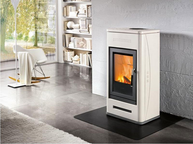 Wood-burning Central stove for air heating E925 | Wood-burning stove - Piazzetta