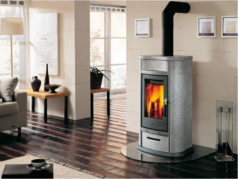 Central Wood-burning stove for air heating E920 | Wood-burning stove - Piazzetta