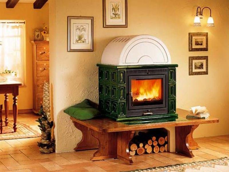 Stufa a legna con forno kam piazzetta - Stufe a legna piazzetta ...