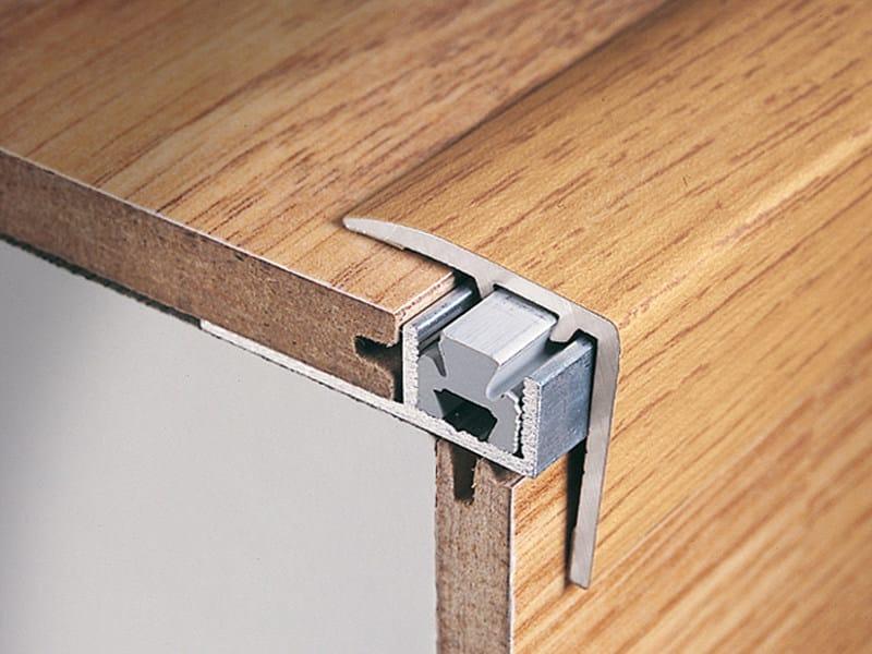 Stair nosing in aluminium for melamine coverings MULTICLIP CLS 250 - PROFILITEC