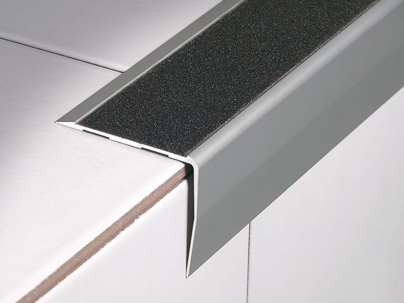 Technical aluminium stair nosing with anti-slip strip STAIRTEC SA - PROFILITEC