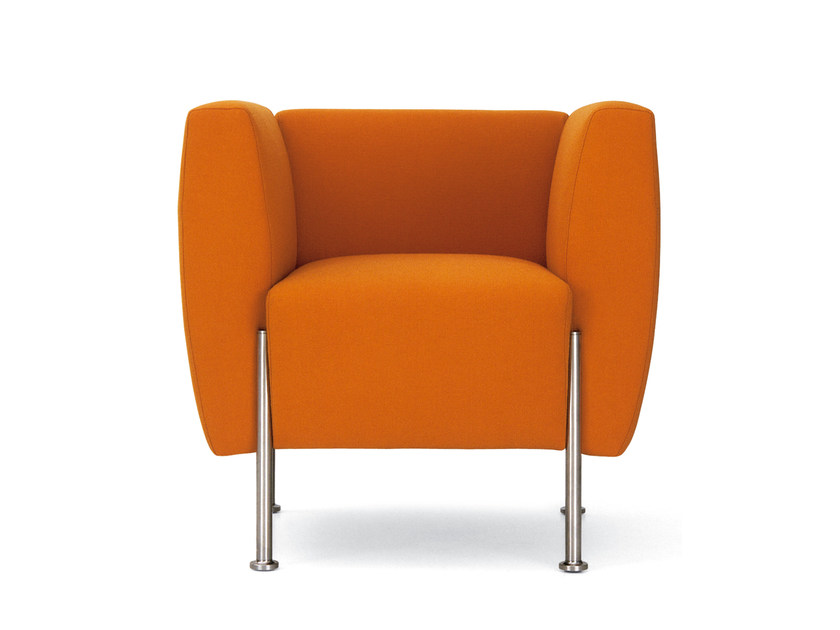 Upholstered easy chair with armrests ALEA | Easy chair by ROSSIN