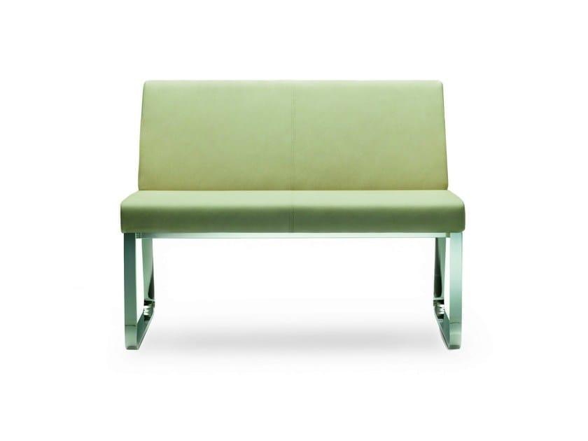 Small sofa BEN | Leather small sofa - ROSSIN