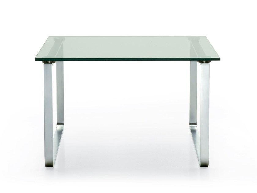 Square glass coffee table BEN | Square coffee table - ROSSIN