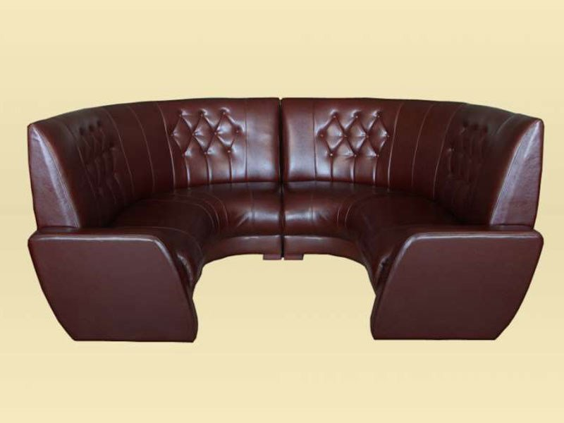 Design corner round upholstered leather sofa CRESCENT U shape new design sofa/settee - Resmita/Desforma line furniture
