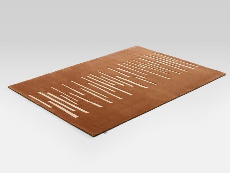 Tappeto a motivi rettangolare in lana PONTE - Rolf Benz