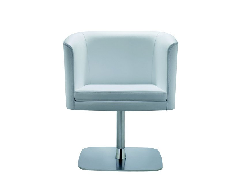 Swivel easy chair with armrests COURT | Easy chair - ROSSIN
