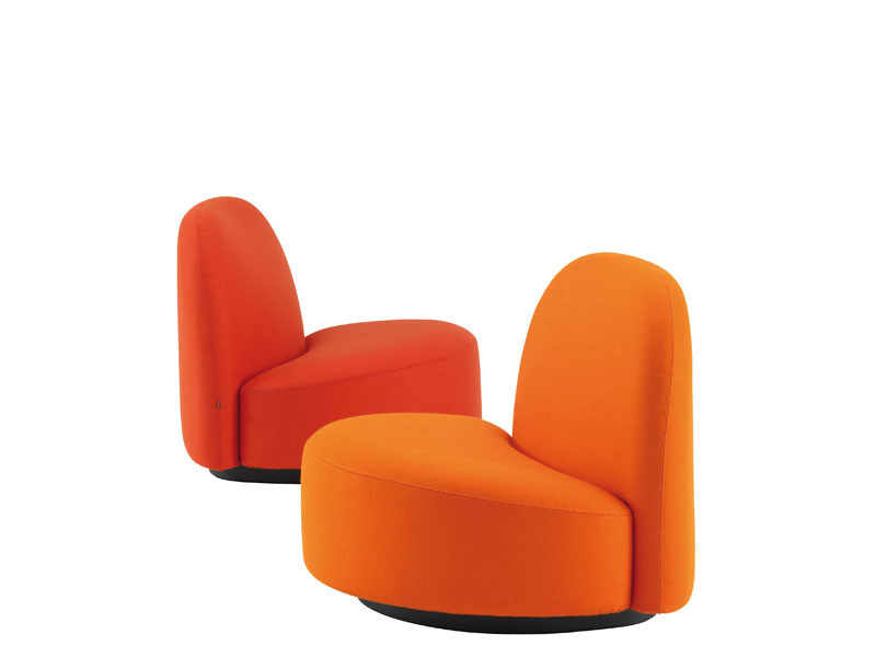 Upholstered armchair with removable cover ELISEÈ by Ligne Roset