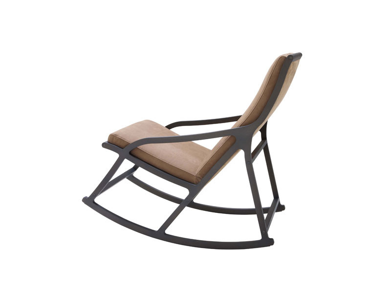 Rocking chair with armrests DERIVE 2 - ROSET ITALIA