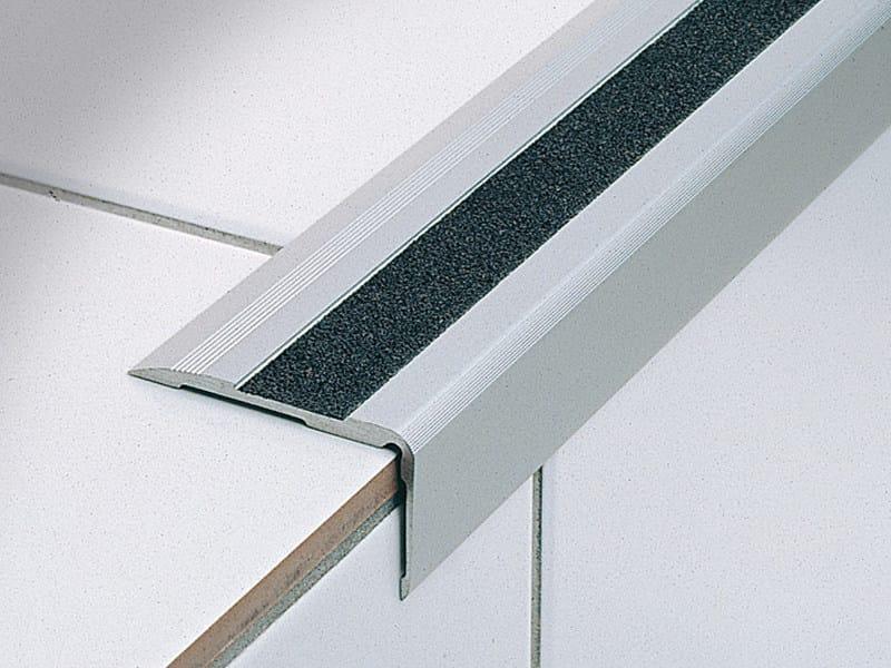 Technical aluminium stair nosing with anti-slip strip STAIRTEC SA 52 by PROFILITEC