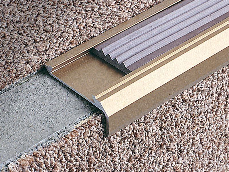 Stairnosing profiles for carpet and PVC coverings STAIRTEC SM 14 - PROFILITEC