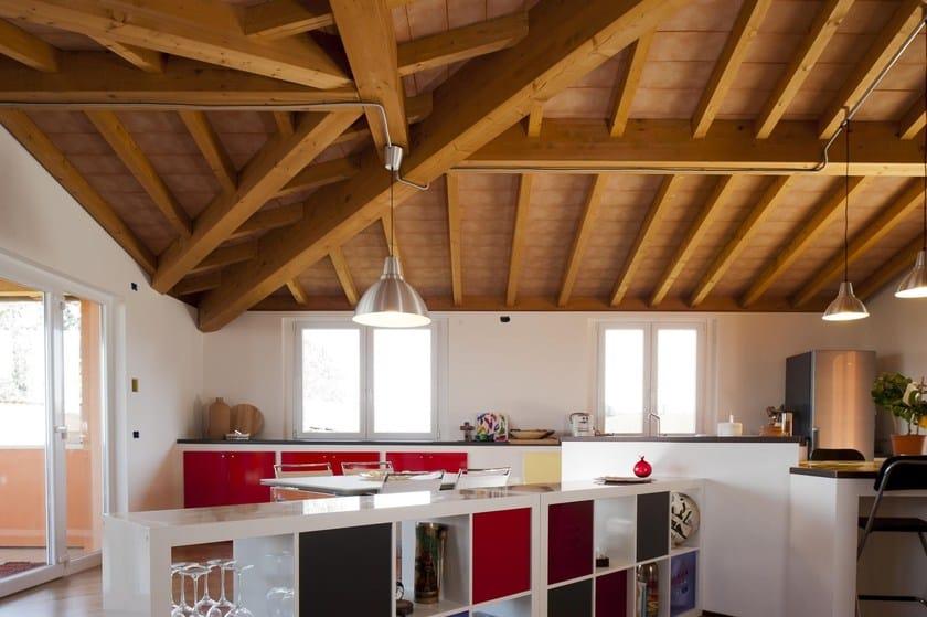 Tavella e tavellone in laterizio tavella sottotetto faccia - Illuminazione sottotetto legno ...