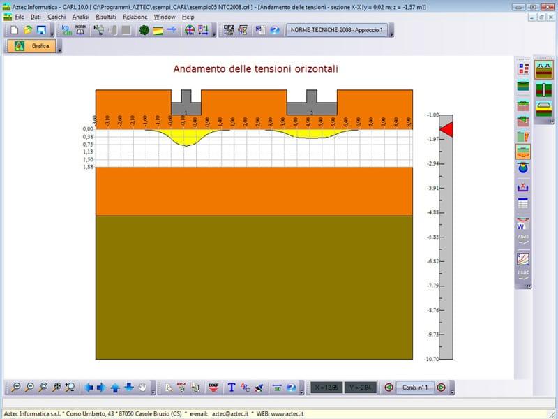 Calcolo fondazioni superficiali carl lt aztec informatica for Finestre velux orizzontali