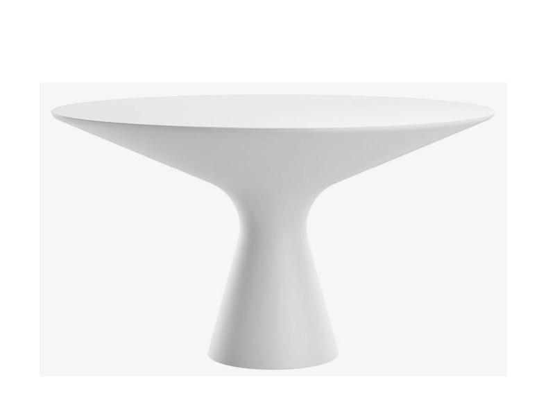 Round Cristalplant® living room table BLANCO - Zanotta