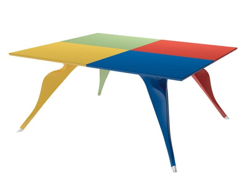 Rectangular MDF table MACAONE 7020 by Zanotta
