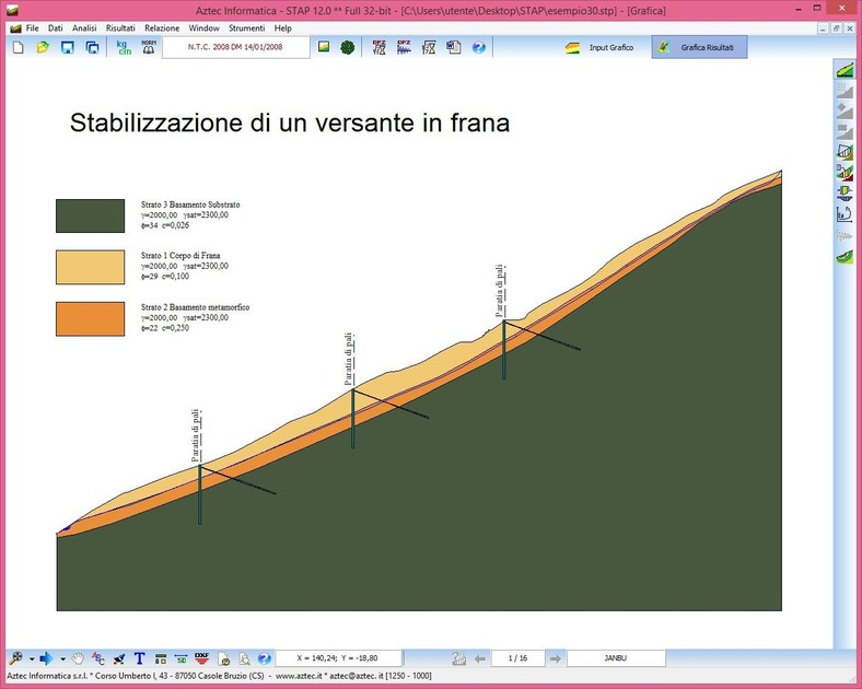 Slope stability test STAP TERRENI by Aztec Informatica