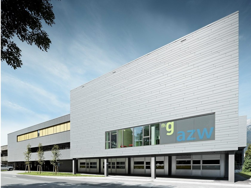 Aluminum slats for ventilated facades SIDING by PREFA ITALIA