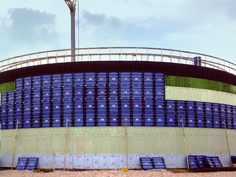 Formwork and formwork system for concrete BIOGAS by Faresin Building