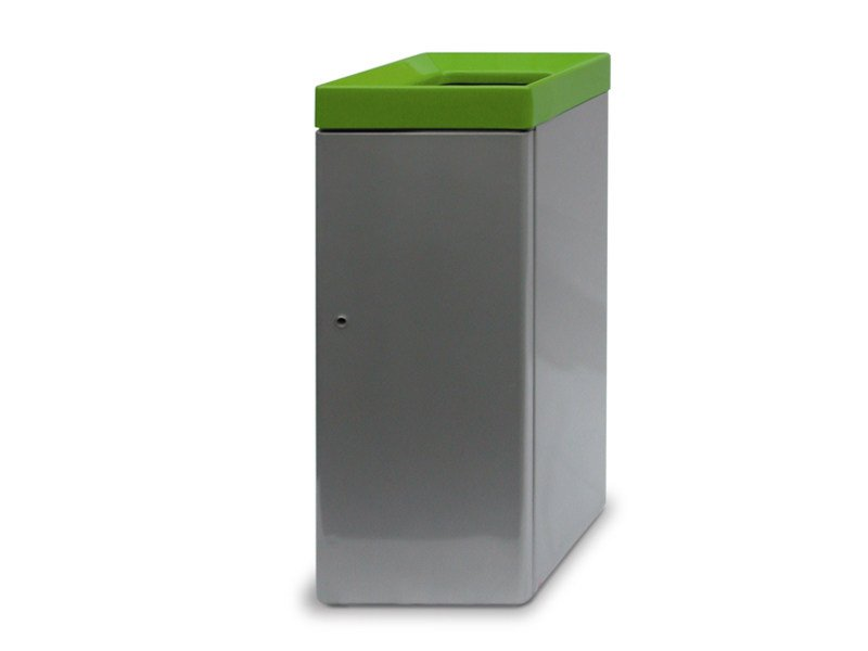 Steel waste bin for waste sorting ECOPOLI WITH OPEN COVER by A.U.ESSE