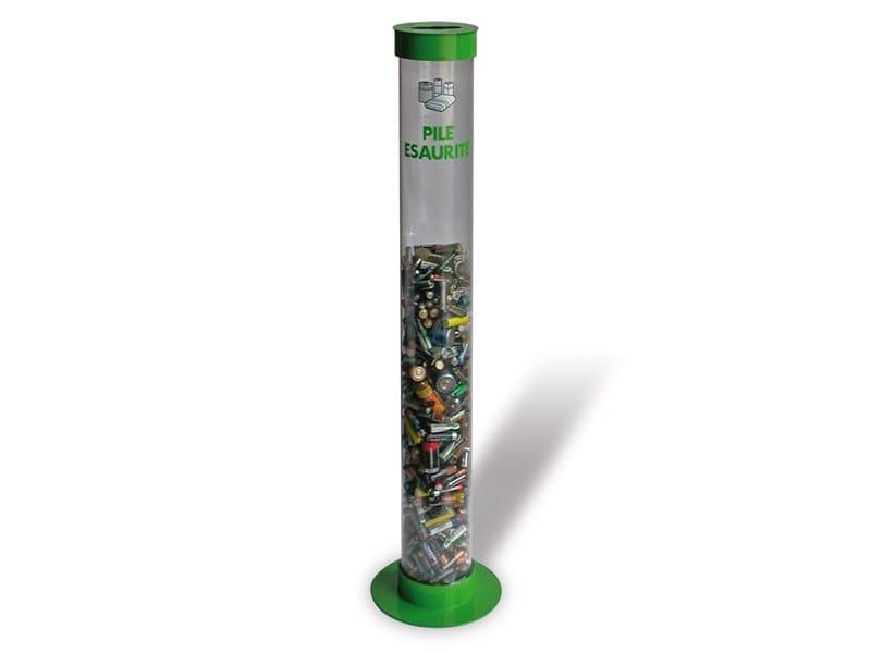 Polycarbonate waste battery bin ECO PILA TRANSPARENT - A.U.ESSE