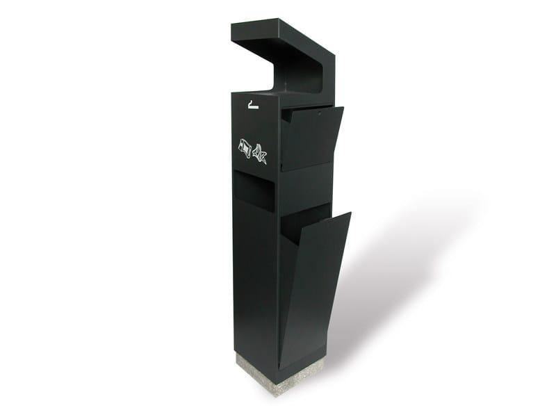"Steel ashtray ECO SMOKE ""BIG"" NO RAIN - A.U.ESSE"