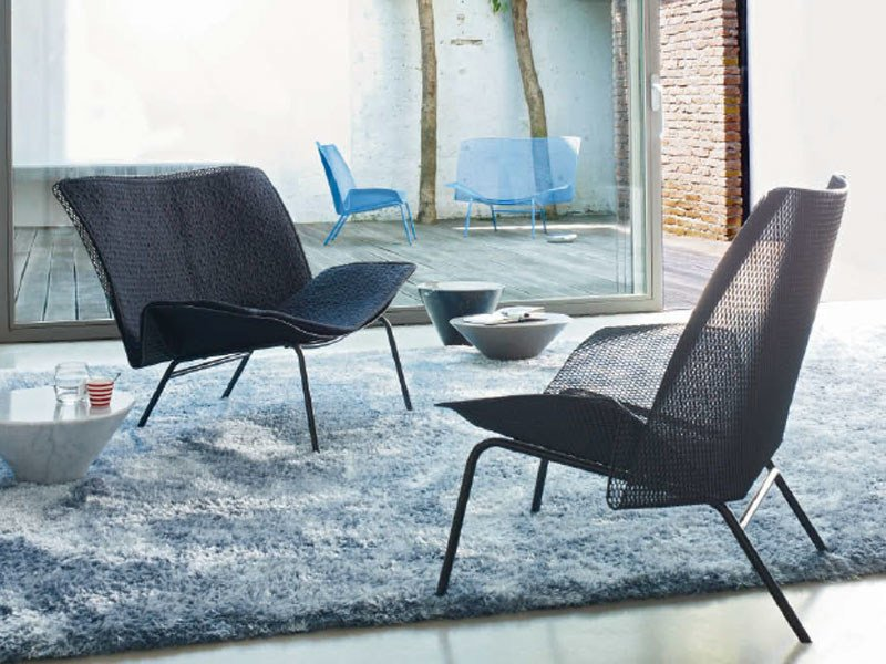 Metal armchair GRILLAGE by Ligne Roset