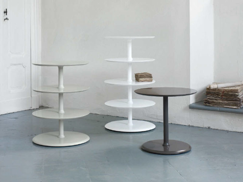 Lacquered round side table ELYSEÈ - ROSET ITALIA