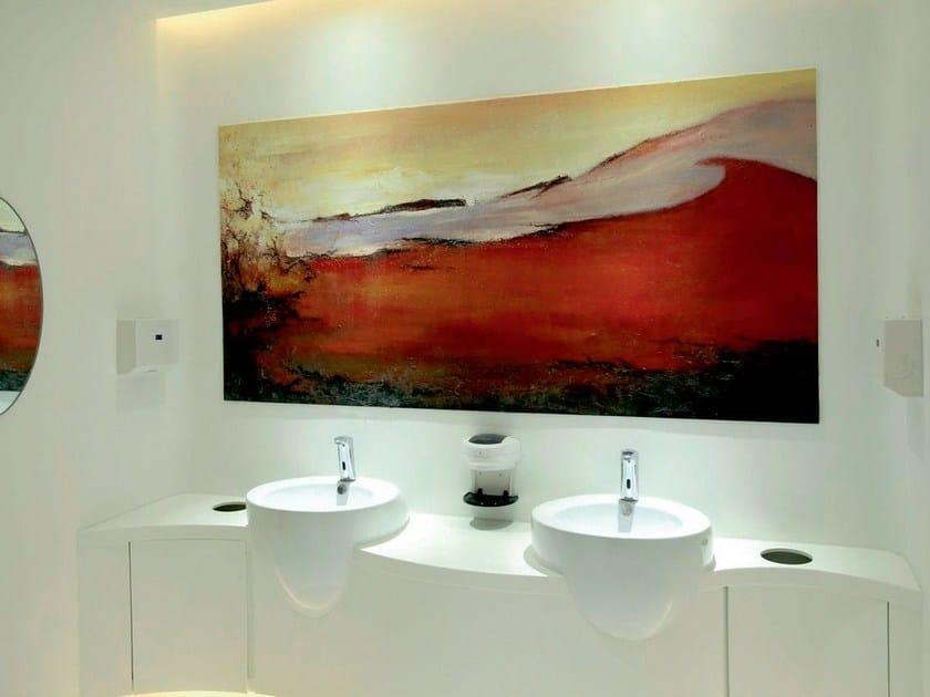 Acrylic stone kitchen worktop / sink STARKRYL® - LEGNOPAN