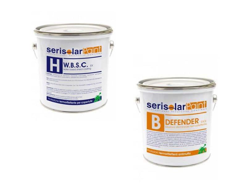 Pintura reflectante antiradiación para revestimiento Vernici COOL ROOF con Serisolar Paint - SERISOLAR