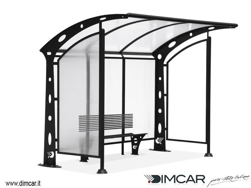 Pensilina per fermata autobus pensilina acaya con pareti for Dimcar arredo urbano