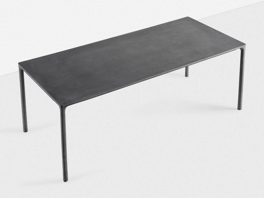 Rectangular cement table BOIACCA | Rectangular table by Kristalia