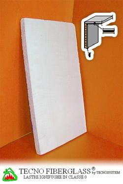 Fireproof gypsum plasterboard for partition walls TECNO FIBERGLASS® - TECNOSYSTEM Building