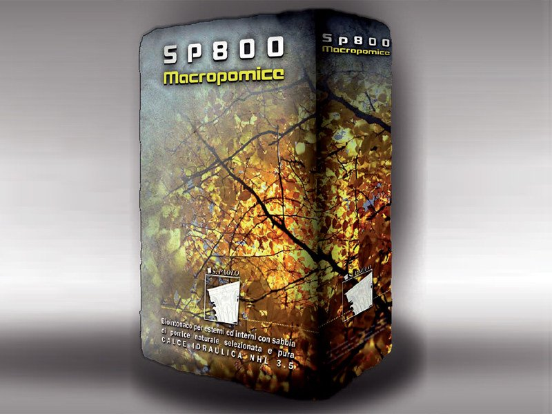 Natural plaster for sustainable building SP800 - S. PAOLO