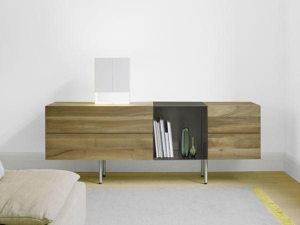 Solid wood sideboard with doors DARA - e15