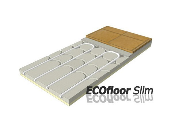 Gypsum fiber Radiant floor panel ECOFLOOR SLIM - Rossato Group