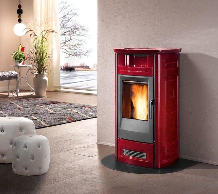 Pellet faïence stove P963 C | Pellet stove - Piazzetta