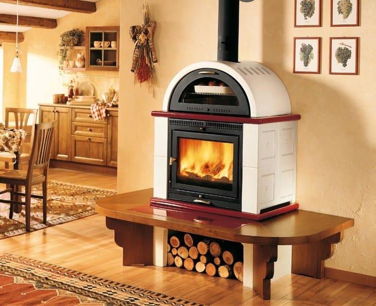 Stufa a legna con forno MOMF | Stufa con forno - Piazzetta