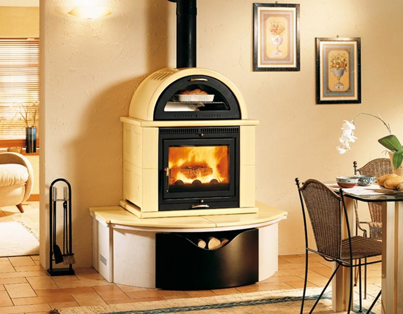 Wood-burning stove with Oven MO1MF | Stove with Oven - Piazzetta