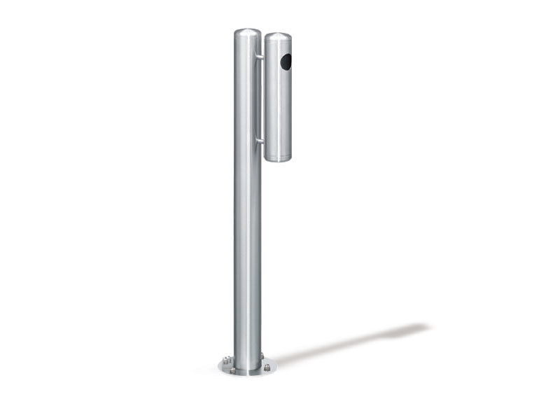 Stainless steel bollard / ashtray INOX - Lazzari