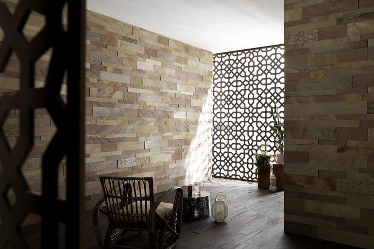 Rivestimento in ardesia murales rivestimento in pietra naturale artesia - Rivestimento interno in pietra ...